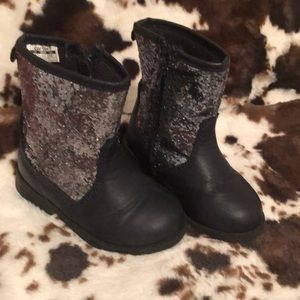 Carters Navy Sparkly Boots
